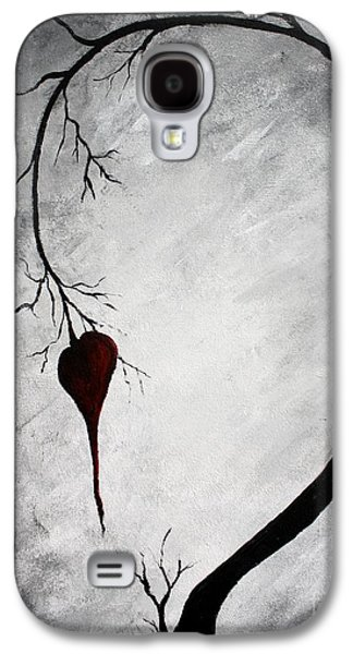 Tree Print Mixed Media Galaxy S4 Cases - Lonely Heart Galaxy S4 Case by Mike Grubb