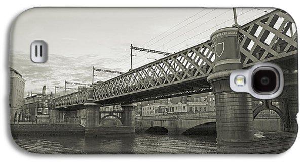 Glass Reflecting Galaxy S4 Cases - Loopline Bridge Dublin Ireland Galaxy S4 Case by Betsy A  Cutler