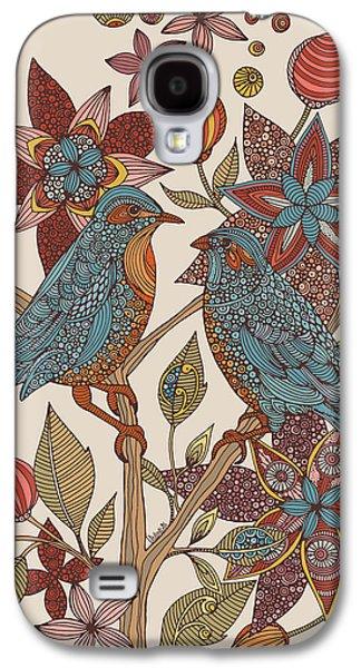 Illustration Photographs Galaxy S4 Cases - Love Birds Galaxy S4 Case by Valentina