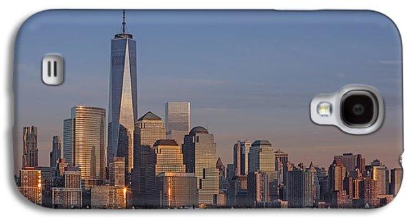 Susan Candelario Galaxy S4 Cases - Lower Manhattan Skyline Galaxy S4 Case by Susan Candelario