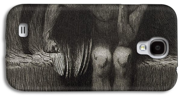 Thought Drawings Galaxy S4 Cases - Lucifer Galaxy S4 Case by Franz von Stuck