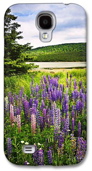Botanical Galaxy S4 Cases - Lupin flowers in Newfoundland Galaxy S4 Case by Elena Elisseeva