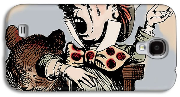 Mad Hatter Galaxy S4 Cases - Mad Hatter Color Galaxy S4 Case by John Tenniel