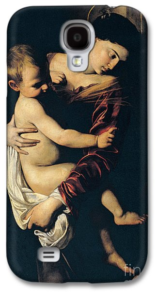 Holy Mother Galaxy S4 Cases - Madonna di Loreto Galaxy S4 Case by Caravaggio