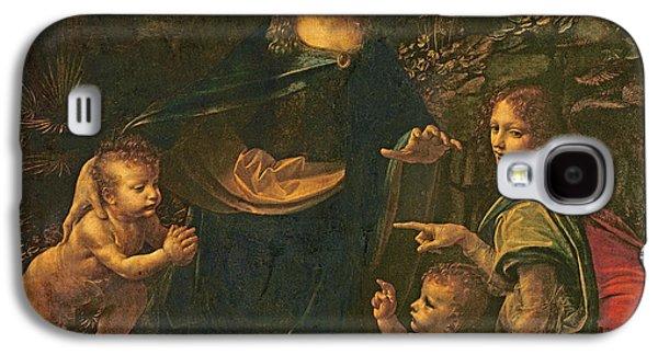 Baptist Paintings Galaxy S4 Cases - Madonna of the Rocks Galaxy S4 Case by Leonardo da Vinci