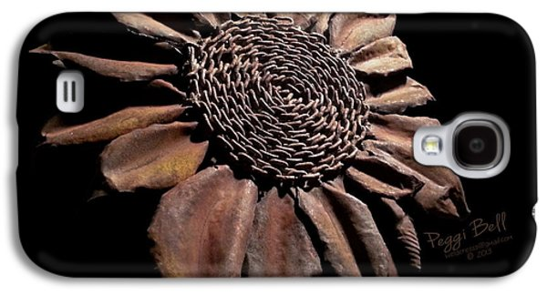 Floral Sculptures Galaxy S4 Cases - Mailbox Sunflower Galaxy S4 Case by Peggi Bell