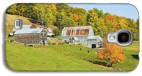 Maine Farms Galaxy S4 Cases - Maine Farm On Side Of Hill In Autumn Galaxy S4 Case by Keith Webber Jr