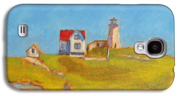 Nubble Lighthouse Paintings Galaxy S4 Cases - Maine Lighthouse Galaxy S4 Case by Jane Collins
