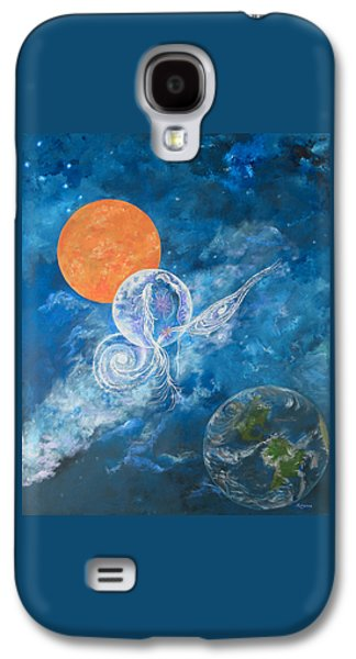 Constellations Paintings Galaxy S4 Cases - Making Love to the Universe - Infinitude Galaxy S4 Case by Judy M Watts-Rohanna