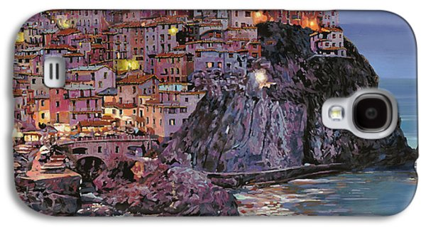 Seaside Galaxy S4 Cases - Manarola at dusk Galaxy S4 Case by Guido Borelli