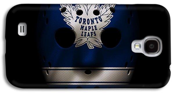 Maple Leafs Jersey Mask Galaxy S4 Case by Joe Hamilton