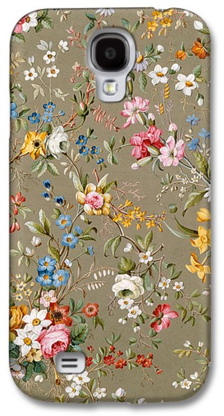 Floral Tapestries - Textiles Galaxy S4 Cases - Marble end paper Galaxy S4 Case by William Kilburn