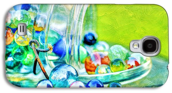 Marble Eye Galaxy S4 Cases - Marbles Galaxy S4 Case by Darren Fisher