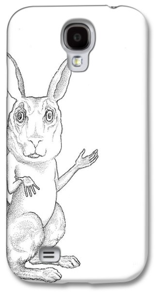 March Hare Galaxy S4 Cases - March Hare Galaxy S4 Case by Linda Baker-Cimini