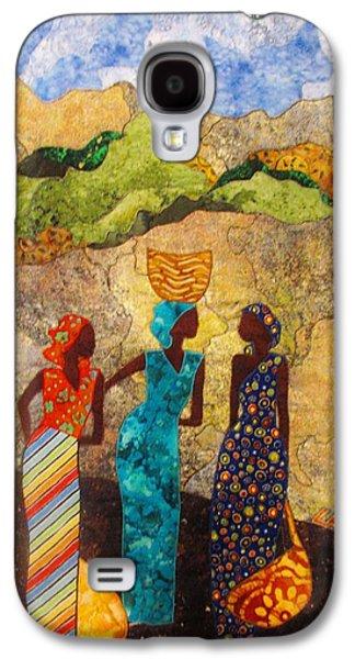 People Tapestries - Textiles Galaxy S4 Cases - Market Day Ladies Galaxy S4 Case by Lynda K Boardman