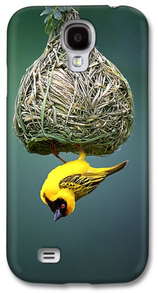 Open Photographs Galaxy S4 Cases - Masked weaver at nest Galaxy S4 Case by Johan Swanepoel