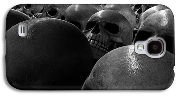 Creepy Galaxy S4 Cases - Massacre Of Skulls Galaxy S4 Case by Allan Swart