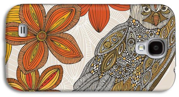 Illustration Photographs Galaxy S4 Cases - Matt the Owl Galaxy S4 Case by Valentina Ramos