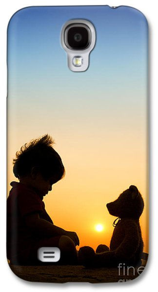 Setting Sun Galaxy S4 Cases - Me and My Bear Galaxy S4 Case by Tim Gainey