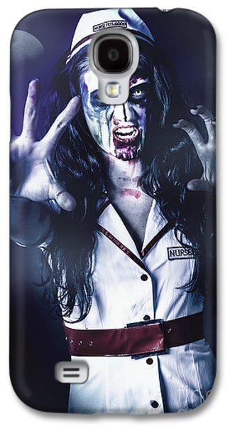 Dismay Galaxy S4 Cases - Medical zombie looking to kill at dead of night Galaxy S4 Case by Ryan Jorgensen