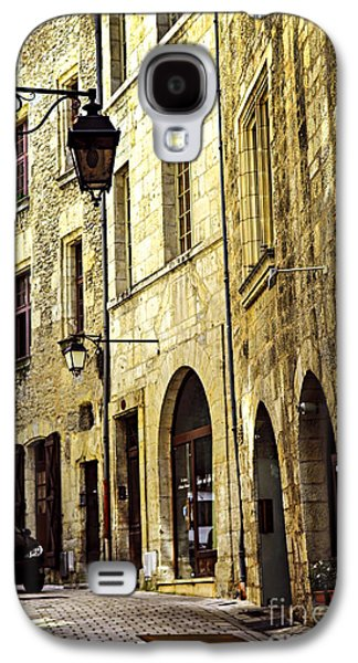 Streetlight Photographs Galaxy S4 Cases - Medieval street in France Galaxy S4 Case by Elena Elisseeva