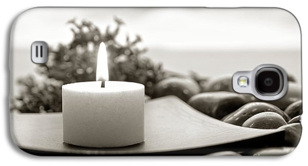 Meditative Photographs Galaxy S4 Cases - Meditation Candle Galaxy S4 Case by Olivier Le Queinec