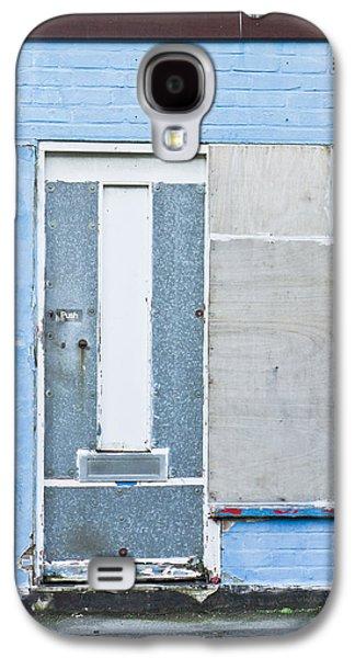 Torn Galaxy S4 Cases - Metal door Galaxy S4 Case by Tom Gowanlock