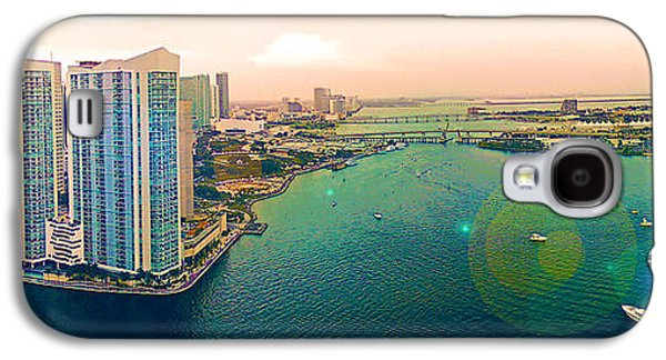 4th July Galaxy S4 Cases - 1 Miami Galaxy S4 Case by Michael Guirguis
