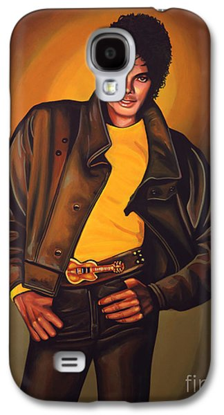 Michael Jackson Paintings Galaxy S4 Cases - Michael Jackson Galaxy S4 Case by Paul  Meijering
