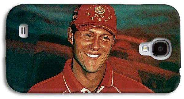 Jordan Paintings Galaxy S4 Cases - Michael Schumacher Galaxy S4 Case by Paul Meijering