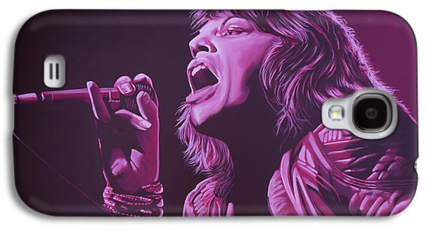 Mick Jagger Galaxy S4 Cases - Mick Jagger Galaxy S4 Case by Paul  Meijering