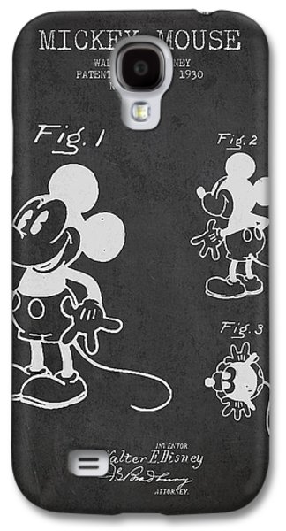 Kids Room Art Galaxy S4 Cases - Mickey Mouse patent Drawing from 1930 Galaxy S4 Case by Aged Pixel
