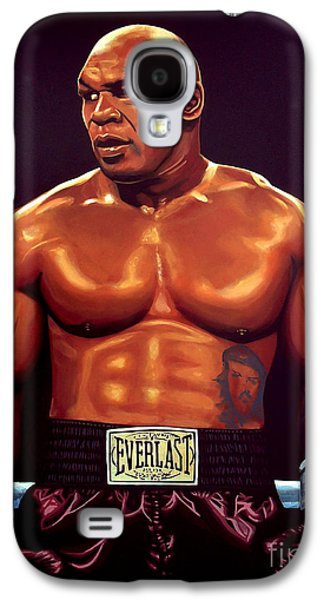 Boxer Paintings Galaxy S4 Cases - Mike Tyson Galaxy S4 Case by Paul  Meijering
