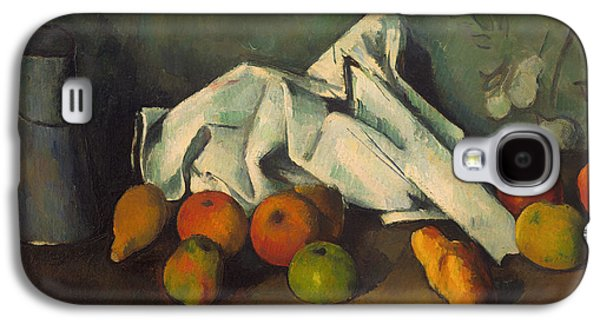 """""""indoor"""" Still Life Paintings Galaxy S4 Cases - Milk Can and Apples Galaxy S4 Case by Paul Cezanne"""