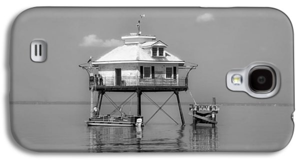 Wooden Platform Galaxy S4 Cases - Mobile Bay Lighthouse Galaxy S4 Case by Mountain Dreams