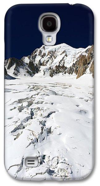 Landscapes Photographs Galaxy S4 Cases - Mont Blanc massif and Mer de Glace glacier Galaxy S4 Case by Antonio Scarpi