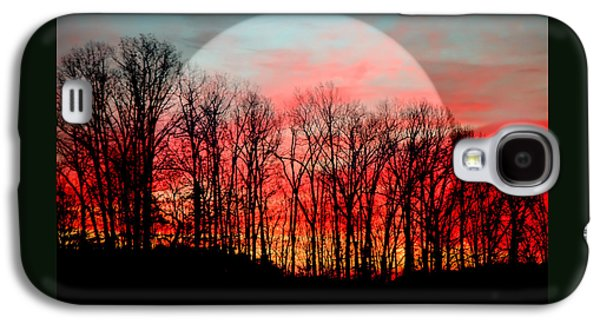 Abstracts Galaxy S4 Cases - Moon Dance Galaxy S4 Case by Karen Wiles
