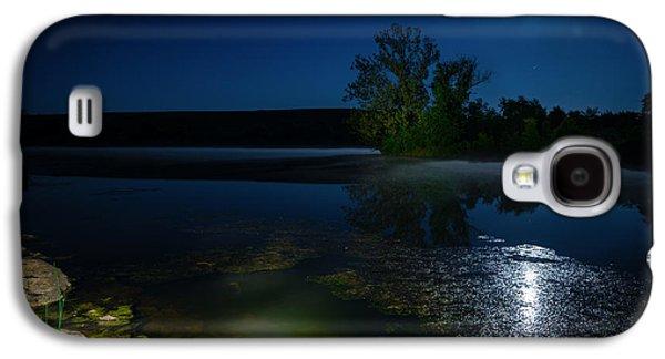 Alga Galaxy S4 Cases - Moon over lake Galaxy S4 Case by Alexey Stiop