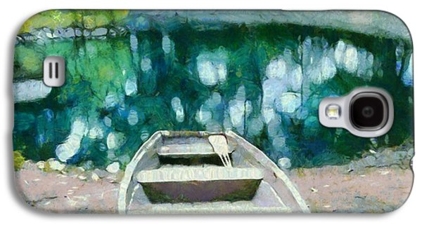Canoe Mixed Media Galaxy S4 Cases - Morning On The Lake Galaxy S4 Case by Dan Sproul