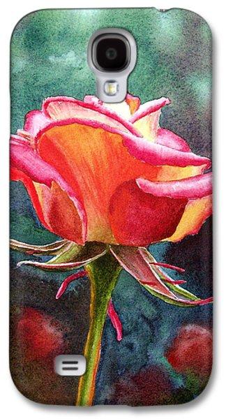 Rose Petals Galaxy S4 Cases - Morning Rose Galaxy S4 Case by Irina Sztukowski