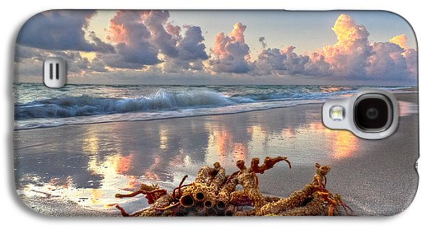 Waterscape Galaxy S4 Cases - Morning Surf Galaxy S4 Case by Debra and Dave Vanderlaan