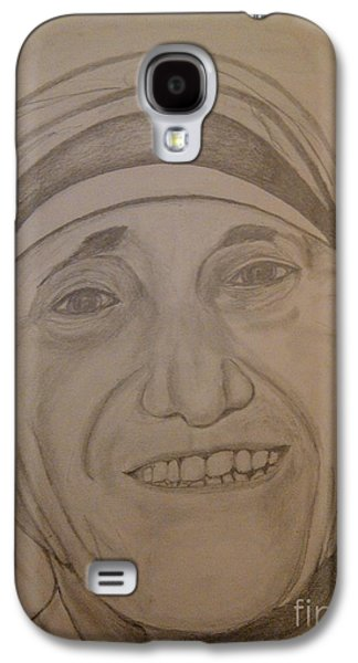 Religious Drawings Galaxy S4 Cases - Mother Teresa Galaxy S4 Case by Irving Starr