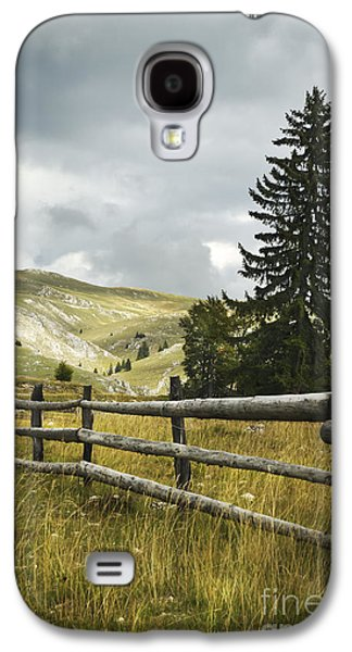 View Pyrography Galaxy S4 Cases - Mountain Landscape Galaxy S4 Case by Jelena Jovanovic
