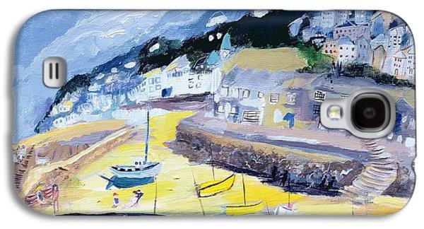 Fishing Village Galaxy S4 Cases - Mousehole, Cornwall, 2005 Acrylic On Board Galaxy S4 Case by Sophia Elliot