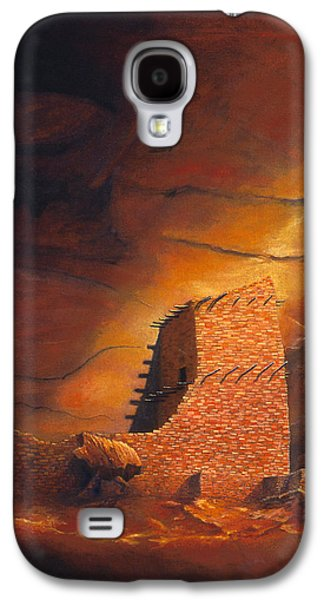 Hopi Galaxy S4 Cases - Mummy Cave Ruins Galaxy S4 Case by Jerry McElroy