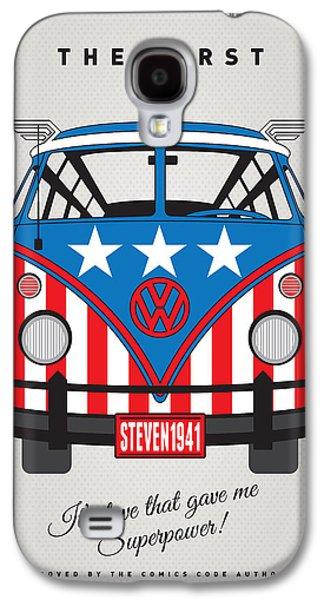 My Superhero-vw-t1-captain America Galaxy S4 Case by Chungkong Art