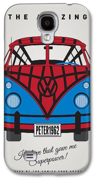 My Superhero-vw-t1-spiderman Galaxy S4 Case by Chungkong Art