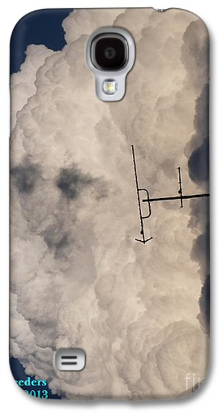Abstract Digital Paintings Galaxy S4 Cases - See description block Pareidolia  MYSTERIOUS FACE IN THE CLOUDS V a Galaxy S4 Case by Gert J Rheeders