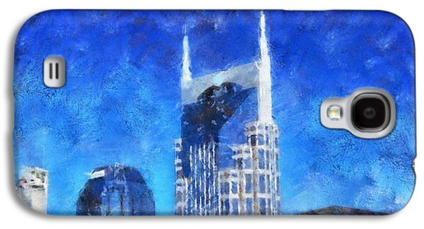 Nashville Paintings Galaxy S4 Cases - Nashville Skyline Galaxy S4 Case by Dan Sproul