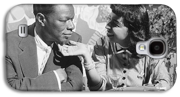 African-american Galaxy S4 Cases - Nat King Cole and his wife Maria 1954 Galaxy S4 Case by The Phillip Harrington Collection